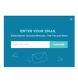Design of the website form for email subscribe vector image vector image