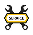 emblem for repair service of mechanics vector image vector image