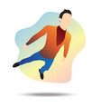 flat a young businessman flying vector image vector image