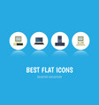 flat icon laptop set of computer notebook vector image