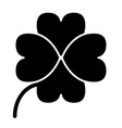 four leaf clover solid icon shamrock vector image
