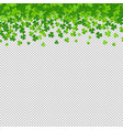 frame with clovers transparent background vector image vector image