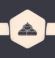 grunge jewish sweet bakery icon isolated on grey vector image vector image