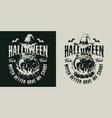 halloween vintage print vector image
