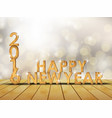 happy year 2016 with concept wooden of numbers vector image vector image