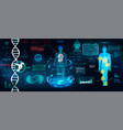 healthcare futuristic scanning in hud style design vector image vector image