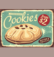 homemade cookies retro worn sign vector image vector image