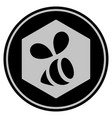 honey bee black coin vector image