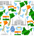 india independence day greeting card celebration vector image