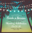 inspiration card for wedding or a party vector image vector image
