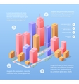 isometric town vector image vector image