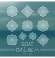 Label elements and icons in marine style vector image vector image