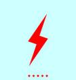 lightning it is icon vector image vector image