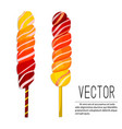 lollipop ombre candies yellow vector image