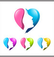 love hearth care and beauty colorful logo vector image vector image
