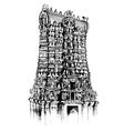 Meenakshi Amman Temple vector image