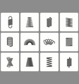 metal spring icon set isolated on vector image vector image