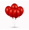 modern red balloons on white vector image vector image