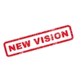 New Vision Rubber Stamp vector image