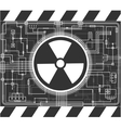 Nuclear background vector image vector image