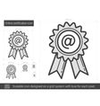 Online certification line icon vector image vector image