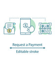 payment request concept icon vector image vector image