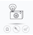 Photo video camera and microphone icons vector image vector image