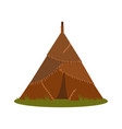 prehistoric house made of animal skins element of vector image vector image