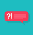 question icon bubble for quiz or poll with ask vector image