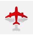 realistic design element plane vector image