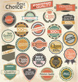 Retro label style collection set vector image