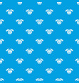 safe planet pattern seamless blue vector image
