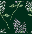 seamless background of lilac twigs vector image vector image