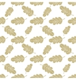 Seamless oak leaves background vector image