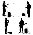 Set silhouettes musicians playing musical vector image vector image