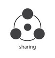 sharing glyph icon vector image vector image