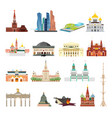 sights of moscow vector image vector image