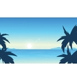 Silhouette of beach beautiful scenery vector image vector image
