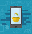 smartphone media marketing vector image vector image