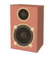 speaker icon cartoon style vector image