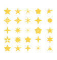 stars icons a set of stars of different shapes vector image vector image