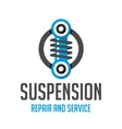 Suspension template logo vector image vector image