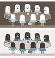 teamwork colored cartoon vector image