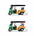 tuk tuk rickshaw traditional transportation from t vector image vector image