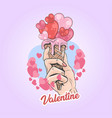 valentine love ice cream artwork vector image vector image