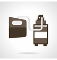 Vehicle emissions analysis flat design icon
