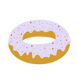 white donut vector image vector image