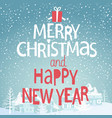 winter background with greeting vector image vector image
