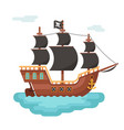 wooden pirate buccaneer filibuster corsair sea dog vector image