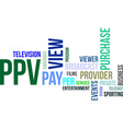 word cloud ppv vector image vector image